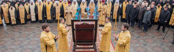 На Владимирской горке совершено ежегодный благодарственный молебен.
