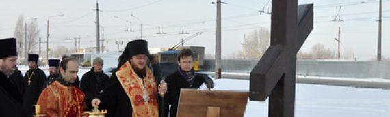 В день памяти мученицы Татианы епископ Боярский Феодосий совершил освящение места под строительство нового храма в Оболонском районе столицы
