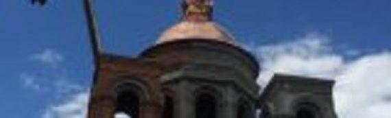 Наш храм увенчался куполом и накупольным крестом