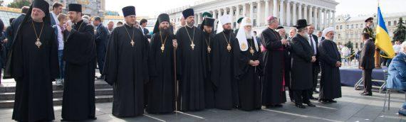 Настоятель нашего храма принял участие в параде по случаю Дня Независимости Украины.