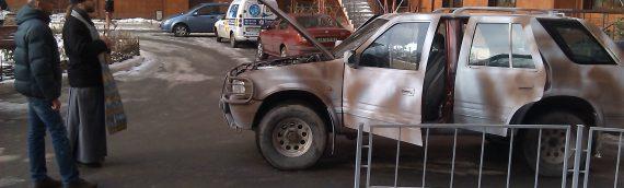 Клирик нашего храма совершил освящение автомобиля для АТО