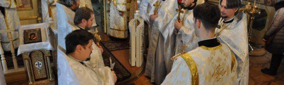 Епископ Боярский Феодосий молитвенно отметил годовщину архиерейской хиротонии