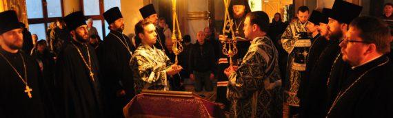 Епископ Боярский Феодосий совершил чтение заключительной части Великого покаянного канона в сослужении духовенства Оболонского района