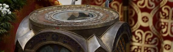 В день памяти священномученика Климента Римского Предстоятель УПЦ возглавил литургию в Свято-Ольгинском соборе столицы