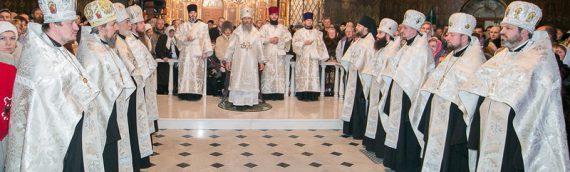 Верующие Киевской епархии поздравили Блаженнейшего Митрополита Онуфрия с Рождеством