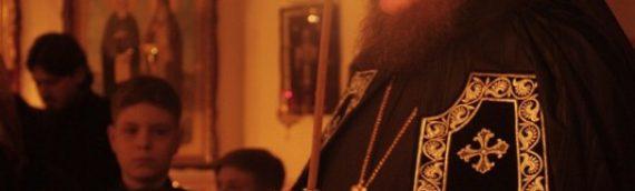 Епископ Боярский Феодосий совершил чтение Великого покаянного канона в сослужении духовенства Оболонского благочиния.