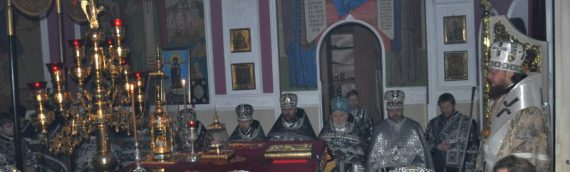 Состоялись соборная Литургия и общее говение духовенства Оболонского благочиния.