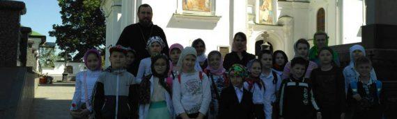 Паломничество детей в Лавру.