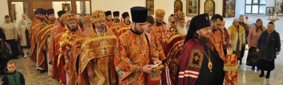 В среду Светлой седмицы архиепископ Боярский Феодосий совершил Божественную Литургию в храме св.Косьмы и Дамиана на Оболони.