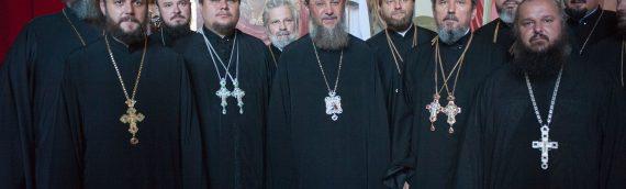 Благочинный Оболонкого благочиния принял участие в поздравлении Управляющего делами УПЦ с Днем тезоименитства.