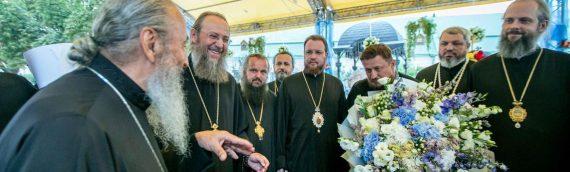 Благочинный Оболонского района принял участие в поздравлении Предстоятеля с седьмой годовщиной интронизации.
